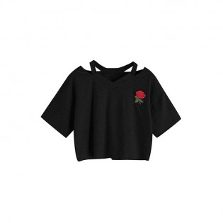 Women Solid Crop T-Shirt